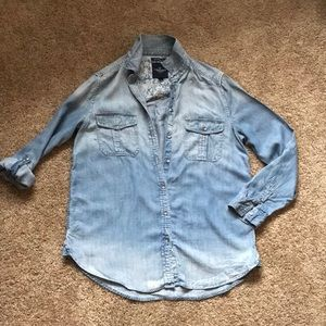 Boyfriend fit chambray button down